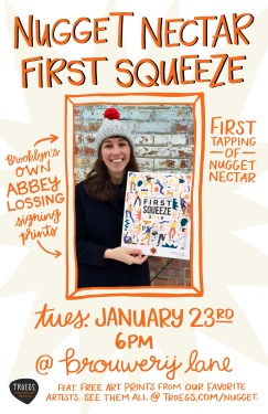FirstSqueeze_ArtistEvent_AbbeyLossing_NYC_Poster
